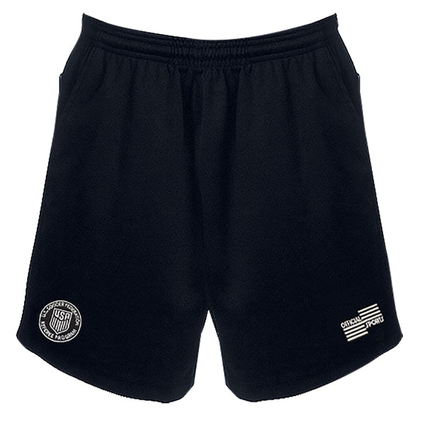 Official Sports Referee 1150CL USSF Soccer Shorts (Black)