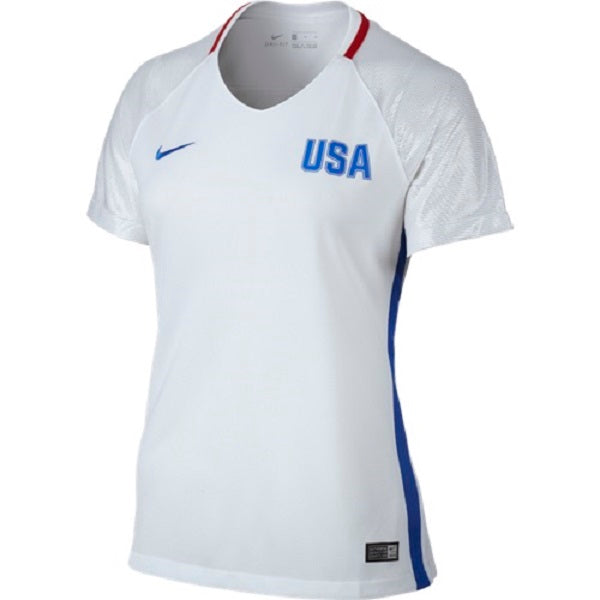 Nike Womens 2016 USA Olympic Home Jersey (White Red Silver) 846141b41