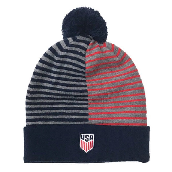 Nike USA Stripe Knit Beanie (Midnight Navy/Speed Red)