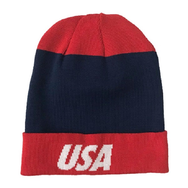 Nike USA Dry Beanie (Midnight Navy/Speed Red)