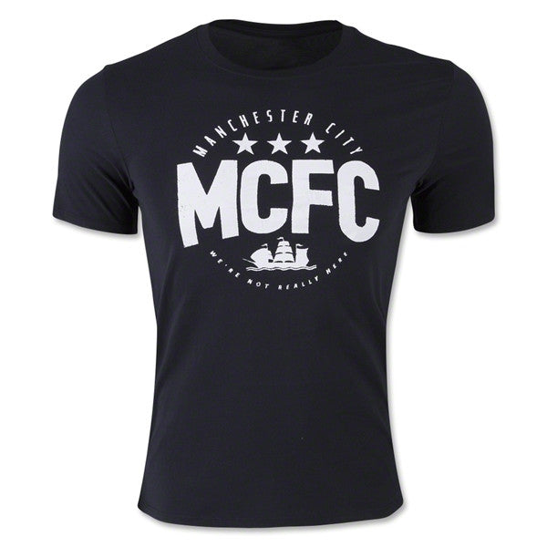 Nike Manchester City Core Plus T-Shirt (Black/White)