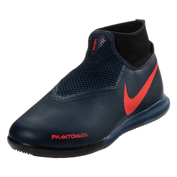 Nike Jr Phantom Vision Academy IC Court Indoor Shoes (Obsidian Blue)