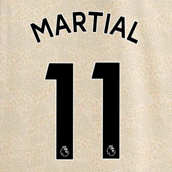 Manchester United Anthony Martial Away 19/20 Nameset (Black)