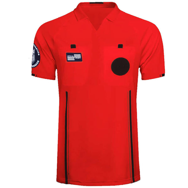 Official Sports Men's Referee Jersey 9174 USSF Economy SS (Red)
