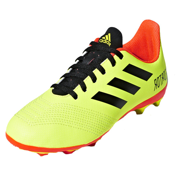 7a1ffc0b32e2 Adidas Youth Predator 18.4 FG Soccer Cleats (Solar Yellow Black Solar Red)