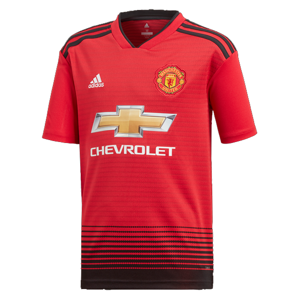adidas Youth Manchester United Home Soccer Jersey 18/19 (Real Red ...