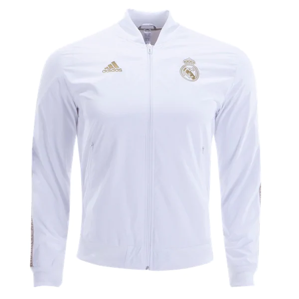 buy online b0d50 e7d2e adidas Real Madrid Anthem Jacket (White/Gold)