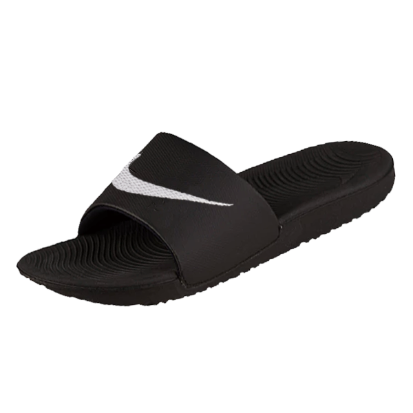 Nike Kawa Slide Sandals (Black/White)