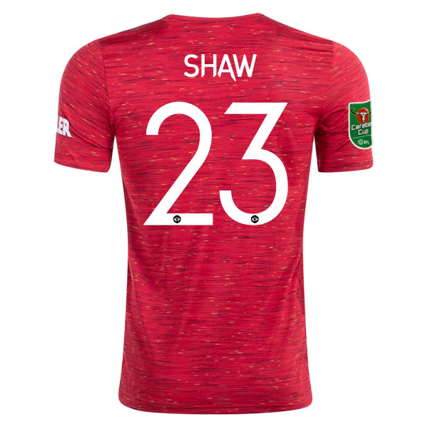 Luke Shaw adidas Manchester United Carabao Cup Home Jersey 20/21 ...