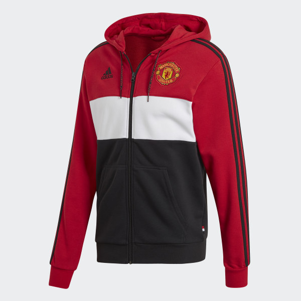Adidas Manchester United Fleece Hoodie 19/20 (Real Red)