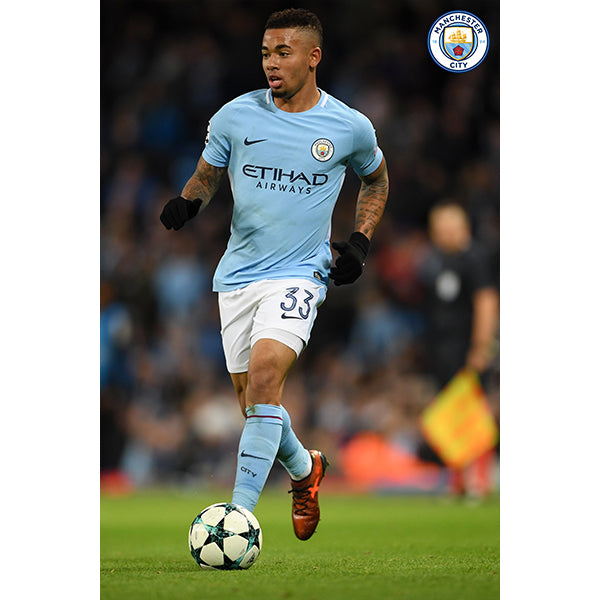 Manchester City Gabriel Jesus Poster