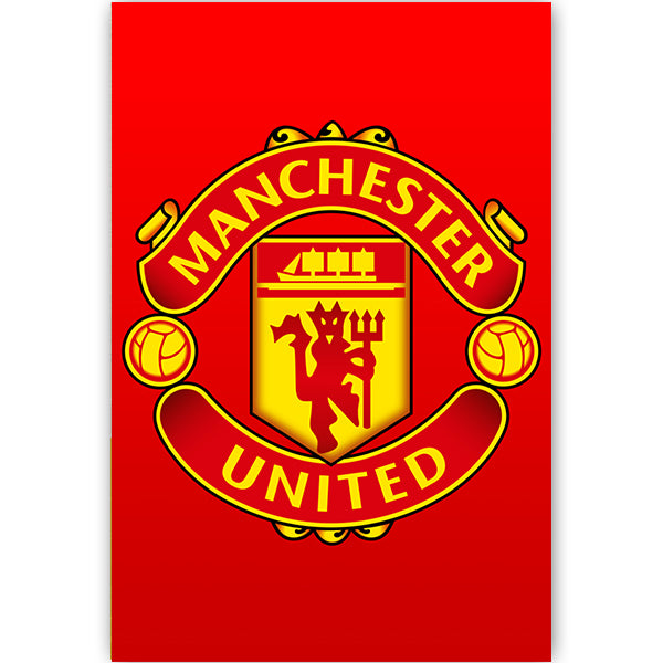 Manchester United Crest Poster Soccer Wearhouse