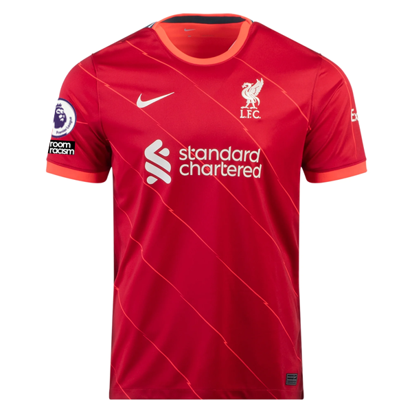 Nike Liverpool James Milner Home Jersey w/ EPL No Room For Racism Patches 21/22 (Red)