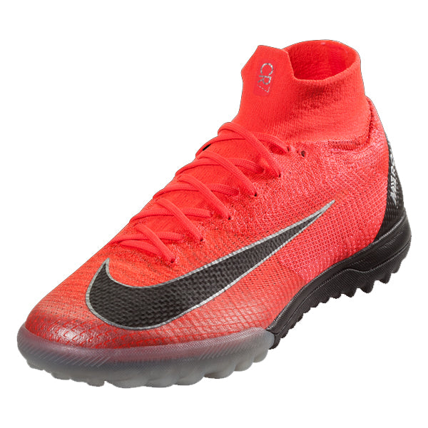 Nike Mercurial Superfly X 6 Elite CR7 TF Turf Soccer Shoes (Bright Crimson)