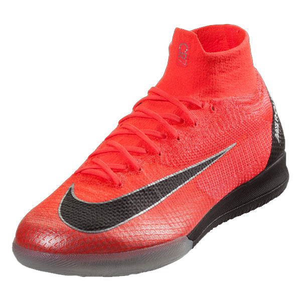 Nike CR7 Mercurial Superfly X 6 Elite IC Indoor Shoes (Bright Crimson)