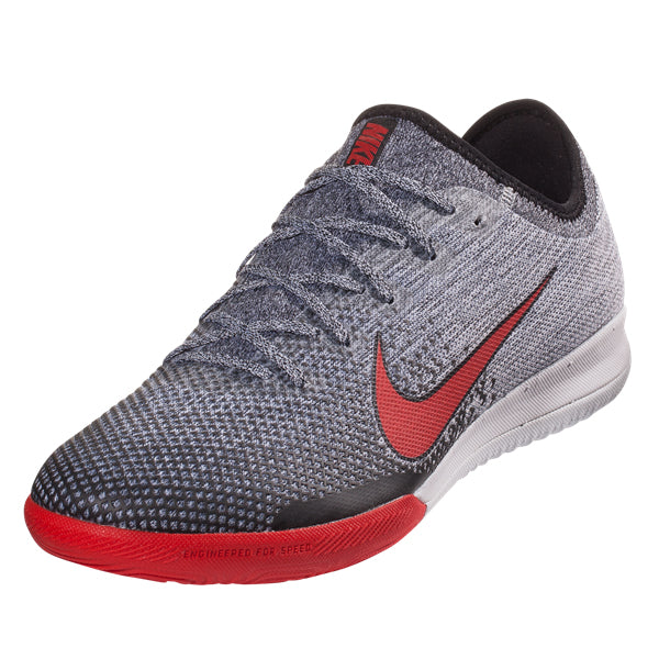 7fb1db44ef9 Nike Mercurial Vapor 12 Pro NJR IC Indoor Shoes (Heather Grey Red)