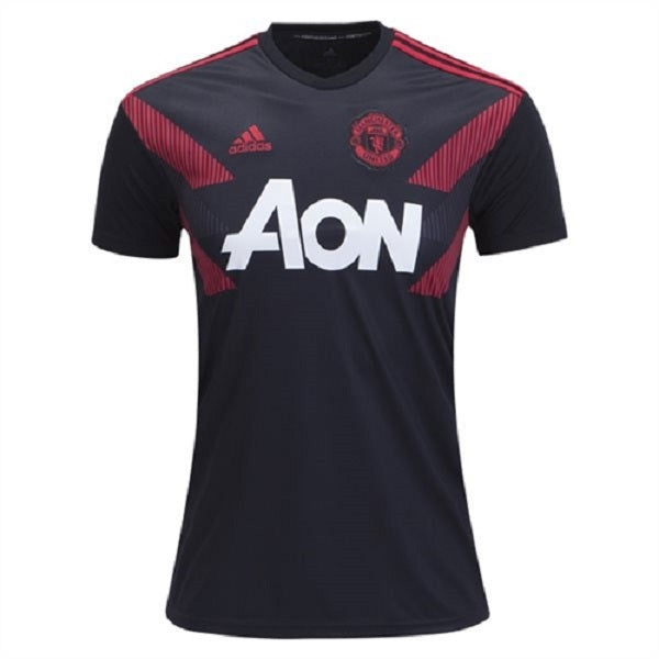 adidas Manchester United Pre Match Jersey (Black/Real Red)