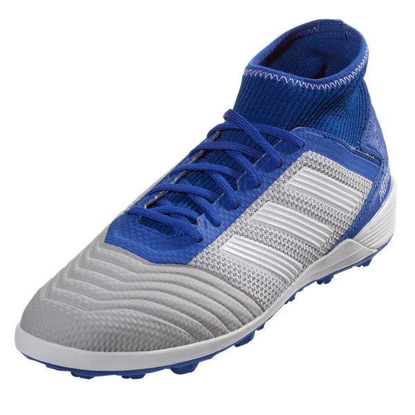 adidas Predator Tango 19.3 TF Artificial Turf Soccer Shoe (Grey/Blue)