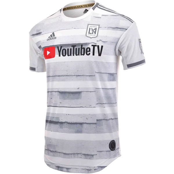 adidas Men's 2019 LAFC Authentic Away Soccer Jersey (White/Grey)