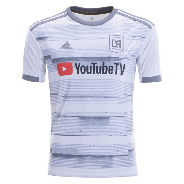 adidas Youth 2019 LAFC Away Soccer Jersey (White/Grey)