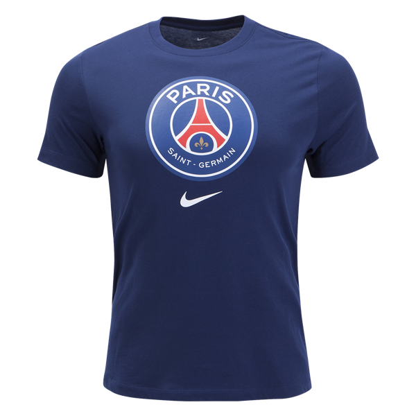 9ac3b8ea092c8 Nike Paris-Saint Germain Evergreen T-Shirt (Midnight Navy)