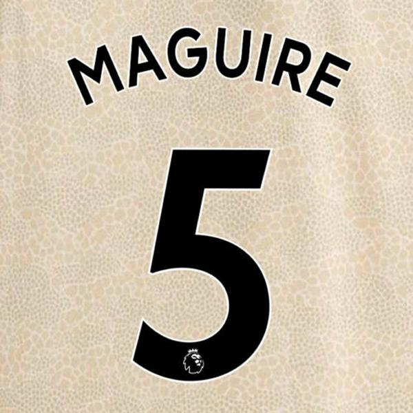 Manchester United Harry Maguire Away 19/20 Nameset (Black)