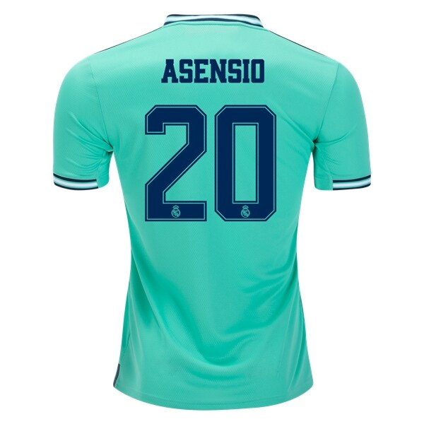 Adidas Real Madrid Asensio #20 3rd Jersey 19/20 w/ Champions League Patches (HI-Res Green)