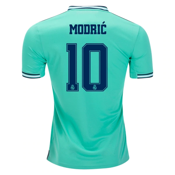 Adidas Real Madrid Modric #10 3rd Jersey 19/20 w/ Champions League Patches (HI-Res Green)