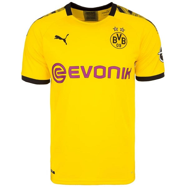 Puma Men S 19 20 Borussia Dortmund Home Jersey Cyber Yellow Soccer Wearhouse