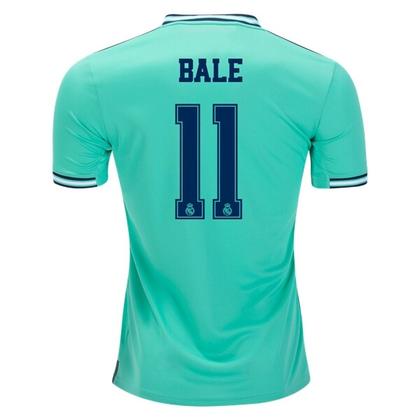 Adidas Real Madrid Bale #11 3rd Jersey 19/20 w/ Champions League Patches (HI-Res Green)