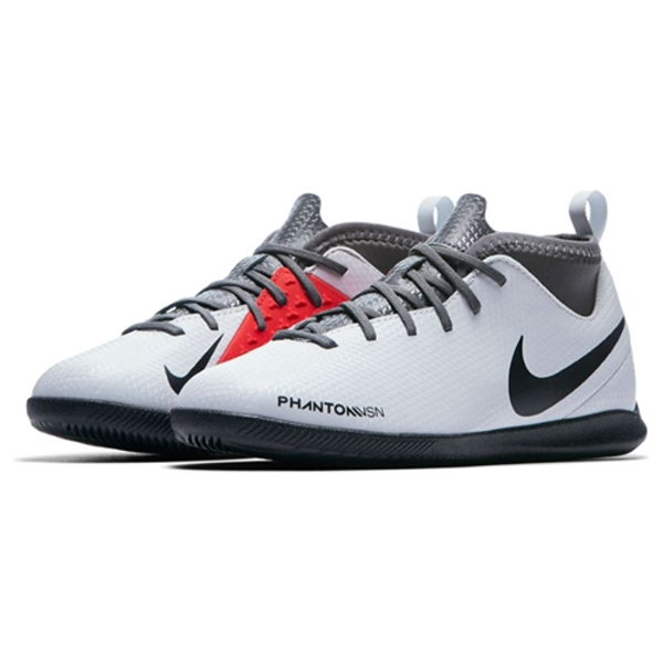 Nike Jr. Phantom Vision Club IC Indoor Court Soccer Shoes (Pure Platinum)