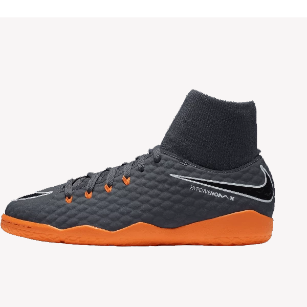 Nike Jr PhantomX Academy IC (Grey/Orange)