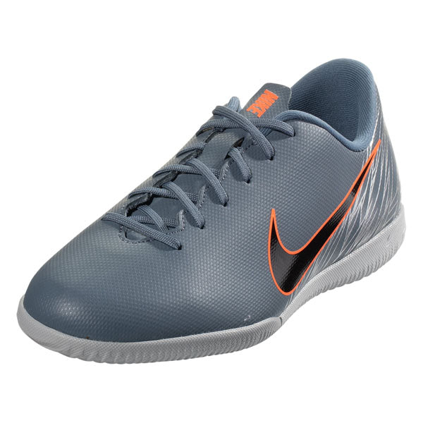 Nike Jr Mercurial Vapor 12 Academy GS IC Indoor Court Soccer Shoes (Armory Blue/Wolf Grey)
