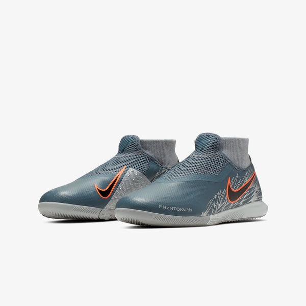 Nike Jr. Phantom Vision VSN Academy IC Indoor Court Soccer Shoes (Armory Blue/Wolf Grey)