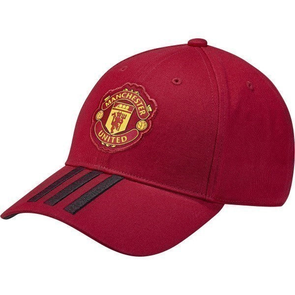 adidas Manchester United 3 Stripe Hat (Red/Black)