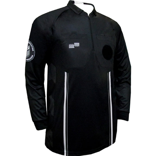 Official Sports Men's Long Sleeve Referee Jersey 9073 USSF Pro (Black)