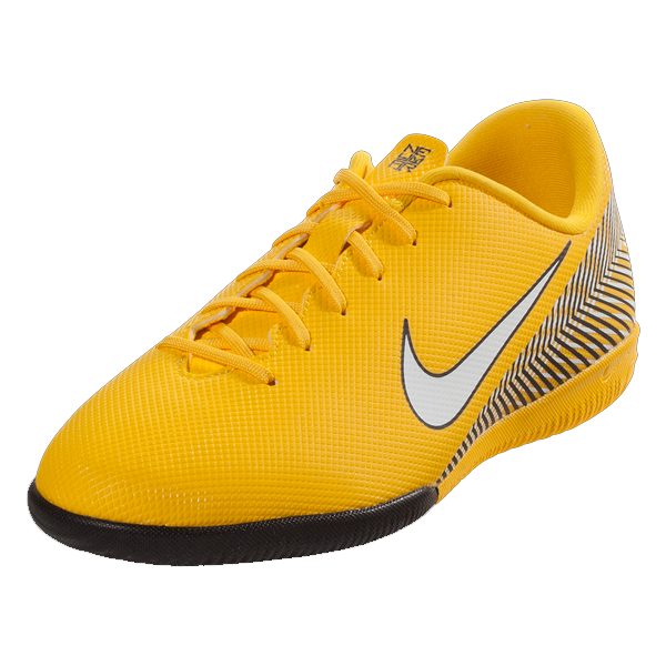Nike Jr. Vapor 12 Academy NJR IC Indoor Court Soccer Shoes (Amarillo/Yellow/Black)