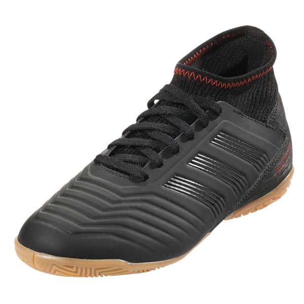 new styles 4a454 704a6 adidas Jr. Predator 19.3 Indoor Shoes (Black Active Red) – Soccer Wearhouse