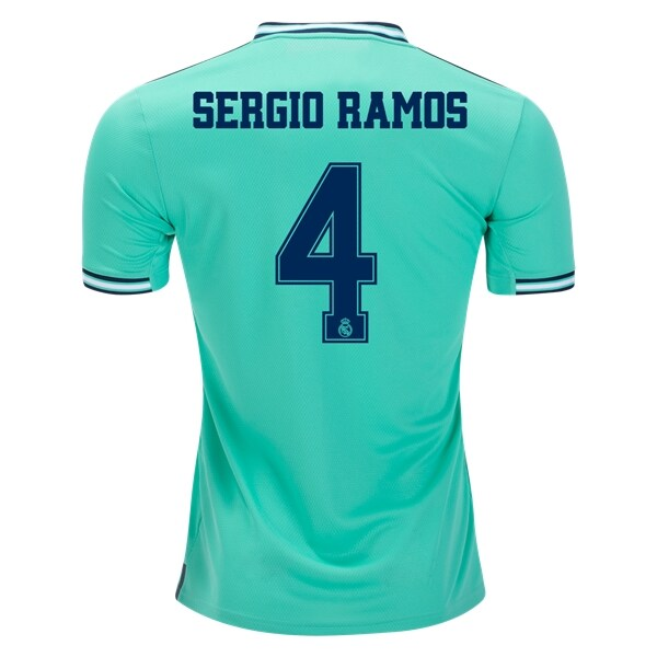 Adidas Real Madrid Sergio Ramos #4 3rd Jersey 19/20 w/ Champions League Patches (HI-Res Green)