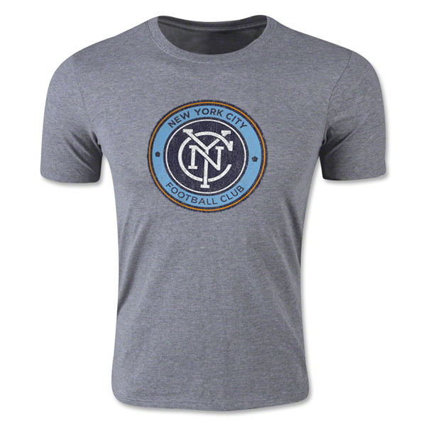 adidas New York City FC Heather Originals Vintage Tri-Blend T-Shirt (Gray)