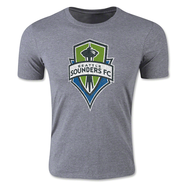 adidas Seattle Sounders FC Heather Originals Vintage Tri-Blend T-Shirt (Gray)