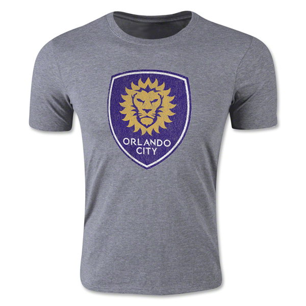 adidas Orlando City SC Heather Originals Vintage Tri-Blend T-Shirt (Gray)