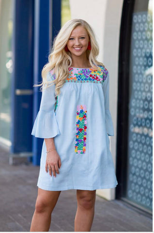 J Marie Embroidered Dress