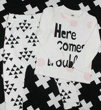 """Here Comes Trouble"" 2 Piece Outfit"