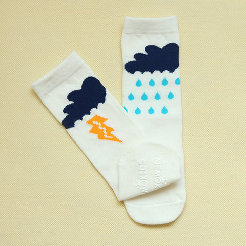 Rain Cloud Knee Socks