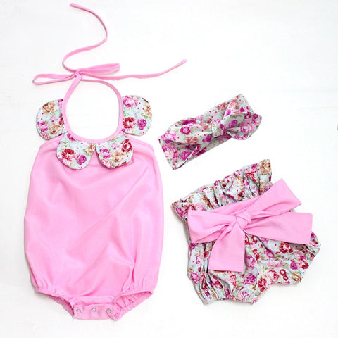 3 Piece Summer Bloomer Short Outfit