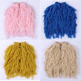 Girls Fun Fringed Fur Vest