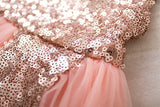 Girls Sequins Princess Dress