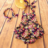 Floral Ruffle Romper Set