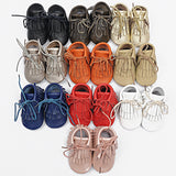 Double Fringe Leather Moccasins